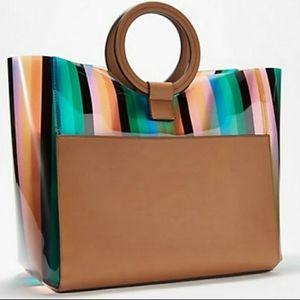 NWT Vince Camuto Clear Rainbow Bag